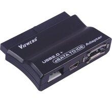 PremiumCord USB 2.0 + eSATA na IDE adaptér s kabelem, napájecí adaptér - ku2ides6