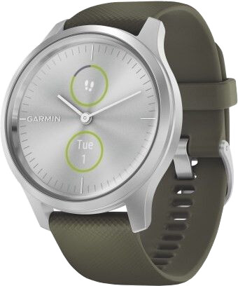 Garmin vivomove3 Style, Silver/Green Band
