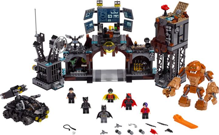 LEGO DC Comics Super Heroes 76122 Clayface útočí na Batmanovu jeskyni