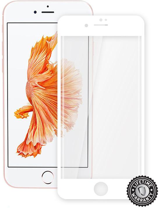 ScreenShield ochrana displeje Tempered Glass pro Apple iPhone 7, bílá (kovový okraj)
