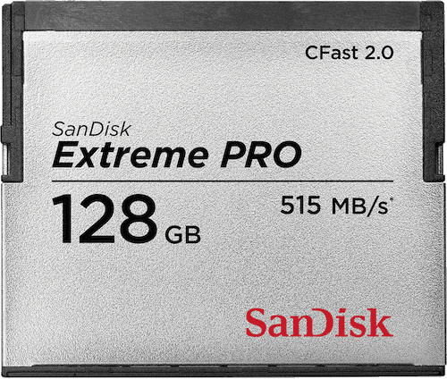 SanDisk CompactFlash Extreme Pro 128GB 515MB/s