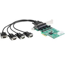 DeLock adaptér PCIe na 4x Serial RS-232, low profile - 89335