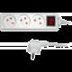 Sencor prodlužovací přívod, 3 zásuvky, s vypínačem, 5m, bílá