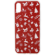 EPICO pružný plastový kryt pro iPhone X RED XMAS
