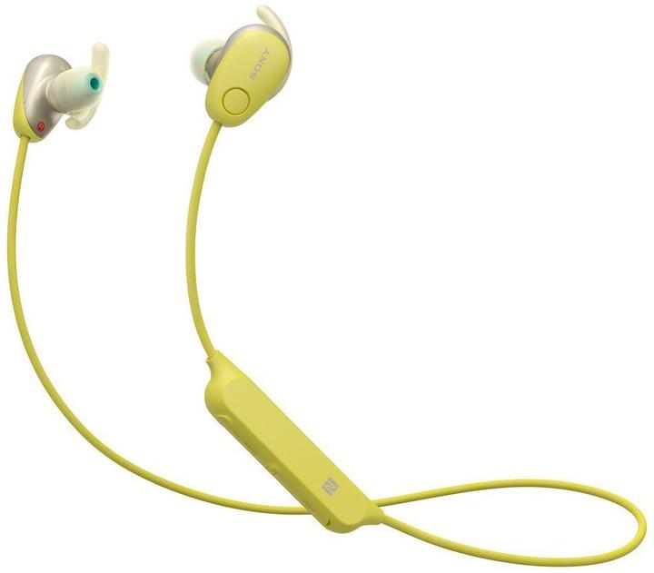 Sony WI-SP600N, žlutá