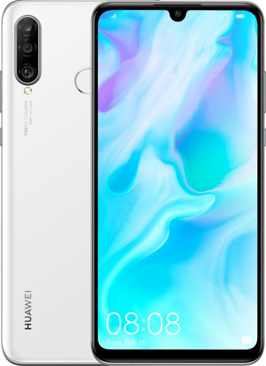 Huawei P30 Lite, 4GB/128GB, bílá