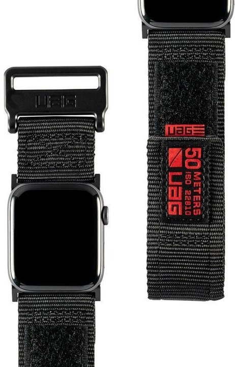 UAG Active Strap - Apple Watch 40/38 mm, černá
