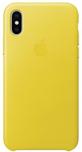 Apple kožený kryt na iPhone X, jasně žlutá