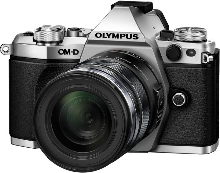 Olympus E-M5 Mark II + 12-50, stříbrná/černá