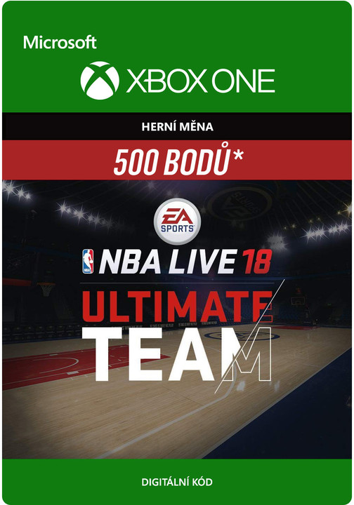 NBA Live 18 - 500 NBA Points (Xbox ONE) - elektronicky