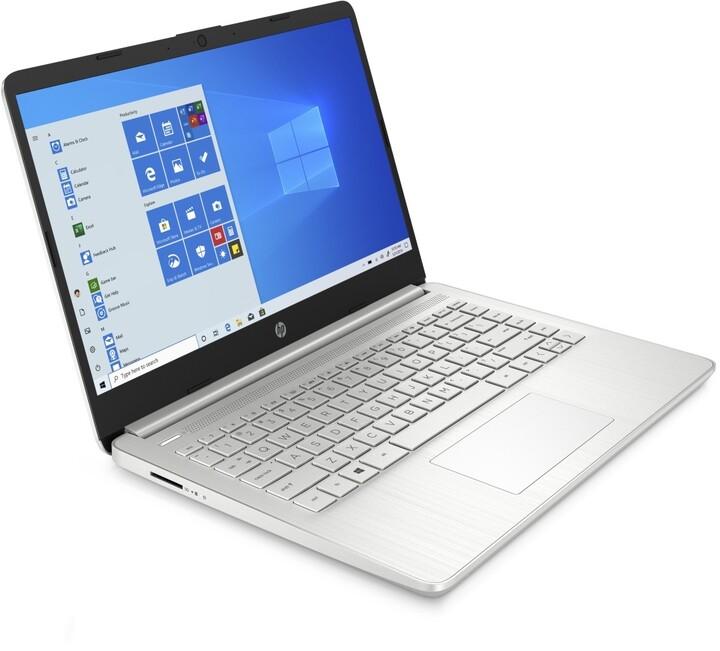 HP 14s-dq1001nc, stříbrná