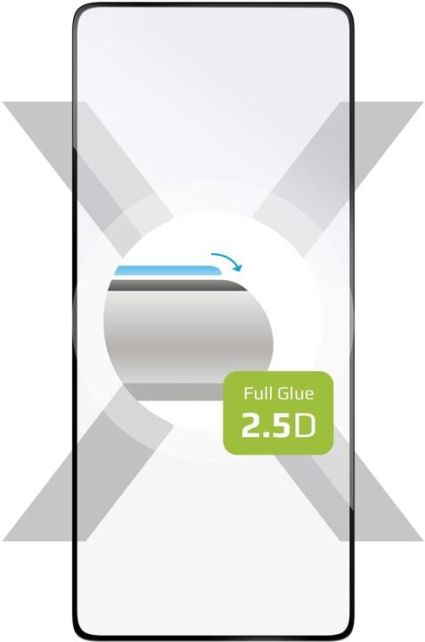 FIXED ochranné tvrzené sklo Full-Cover pro Samsung Galaxy S10 Lite, lepení přes celý displej, černá
