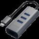 Satechi Type-C 2v1 3 Port USB 30 HUB Ethernet, šedá