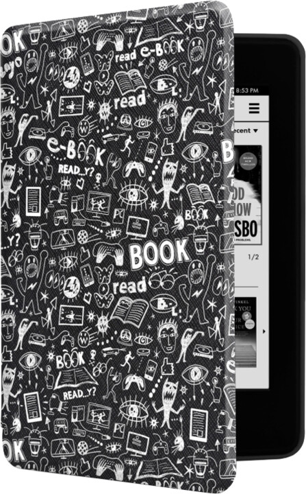 CONNECT IT Doodle pouzdro pro Amazon NEW Kindle Paperwhite 4 (2018), černé