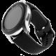 FIXED silikonový řemínek pro smartwatch, šířka 20mm, černá