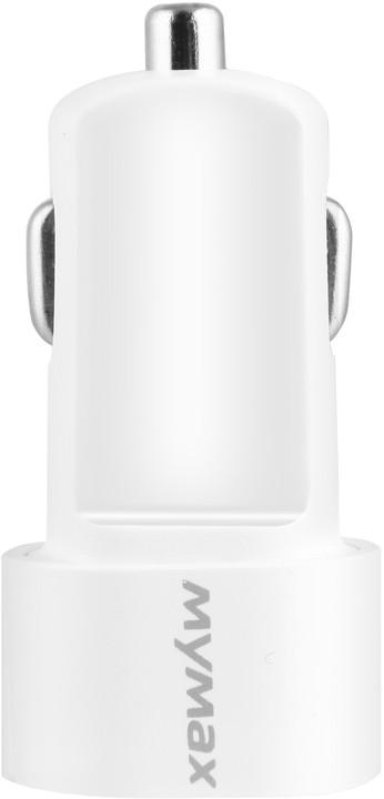 iMyMax Bullet Car Charger 2,1A, bílá