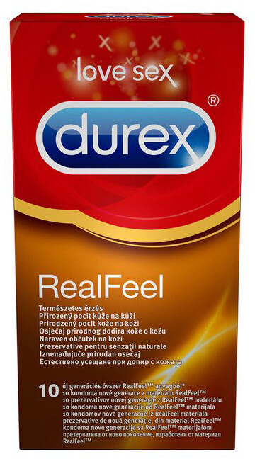 Kondomy Durex Real Feel, 10 ks