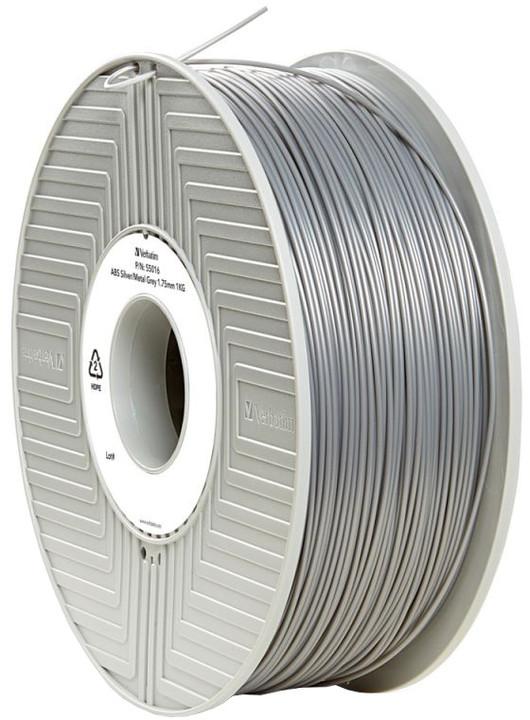 Verbatim tisková struna (filament), ABS, 1,75mm, 1kg, stříbrná