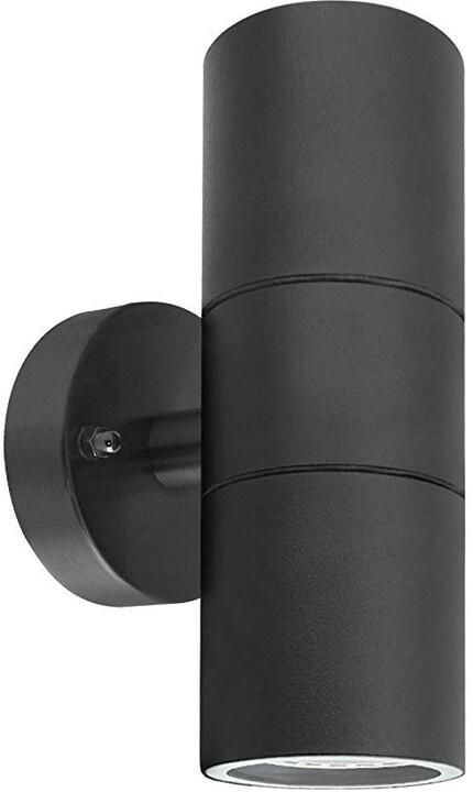 IMMAX NEO PARED double Smart bodové nástěnné svítidlo venkovní, černá, 2x GU10 RGB Zigbee 3.0