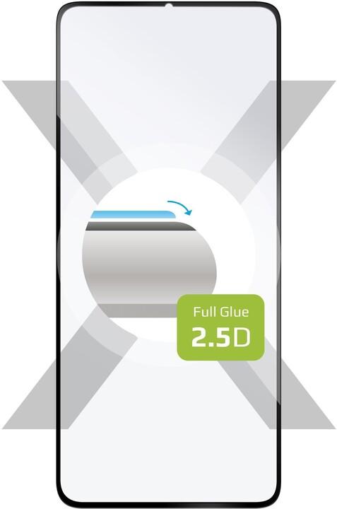 FIXED ochranné tvrzené sklo Full-Cover pro Motorola G8 Power, lepení přes celý displej, černá