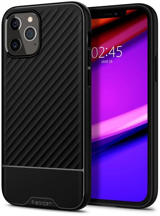 Spigen ochranný kryt Core Armor pro iPhone 12/12 Pro, černá