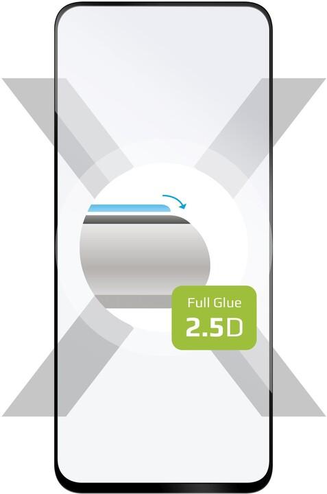 FIXED ochranné tvrzené sklo Full-Cover pro Samsung Galaxy A71, lepení přes celý displej, černá