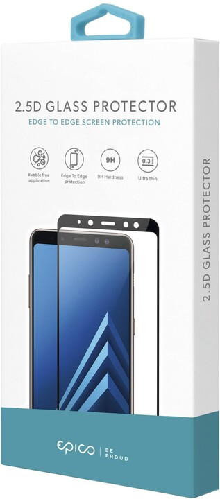 EPICO 2,5D GLASS tvrzené sklo pro Huawei P40 Lite / Nova 6SE, černá