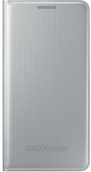 Samsung EF-FG850B flipové pouzdro pro Galaxy Alpha (SM-G850), stříbrná