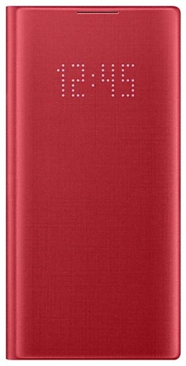 Samsung flipové pouzdro LED View pro Galaxy Note10, červená