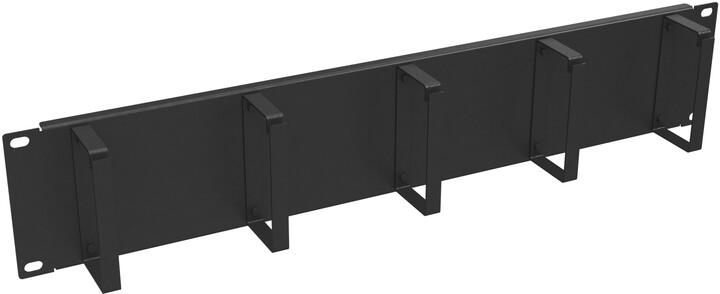 """Solarix vyvazovací panel 19"""", 2U, ocelový VP-02"""