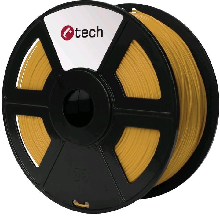 C-TECH tisková struna (filament), PLA, 1,75mm, 1kg, zlatá