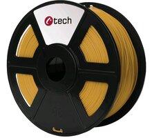 C-TECH tisková struna (filament), PLA, 1,75mm, 1kg, zlatá - 3DF-PLA1.75-GL