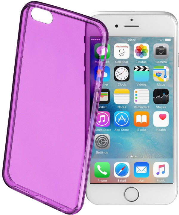 CellularLine COLOR barevné gelové pouzdro pro Apple iPhone 6/6S, fialové