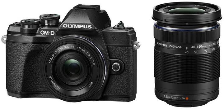 Olympus E-M10 Mark III + ED 14-42mm EZ + 40-150mm R, černá