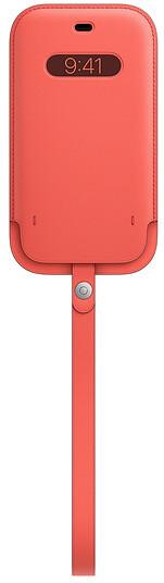 Apple kožený návlek s MagSafe pro iPhone 12/12 Pro, růžová