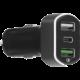 MAX autonabíječka MCC3310BG 2 x USB, 1 x USB-C (QC 3.0), černá