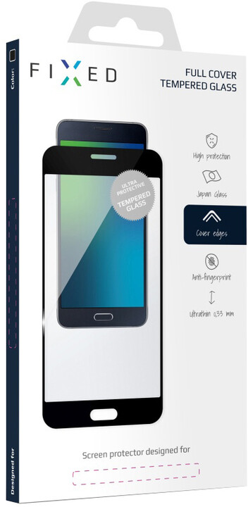 FIXED Full-Cover ochranné tvrzené sklo pro Samsung Galaxy J3 (2017), přes celý displej, černé