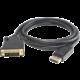 PremiumCord DisplayPort na DVI kabel 5m