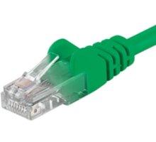 PremiumCord Patch kabel UTP RJ45-RJ45 level 5e, 0.25m, zelená