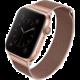 UNIQ řemínek Dante Apple Watch Series 4 Mesh Steel 40mm, růžovo/zlatá