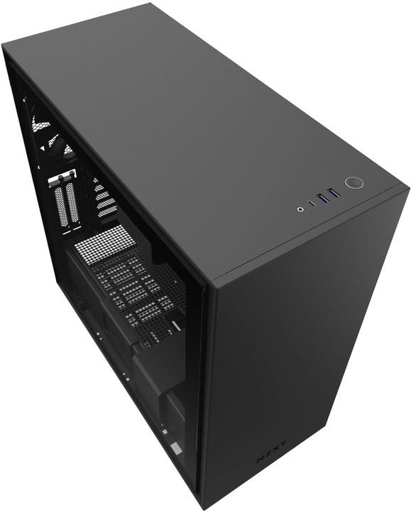 NZXT H710i, okno, černá