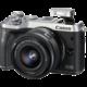 Canon EOS M6 + EF-M 15-45mm IS STM, stříbrná