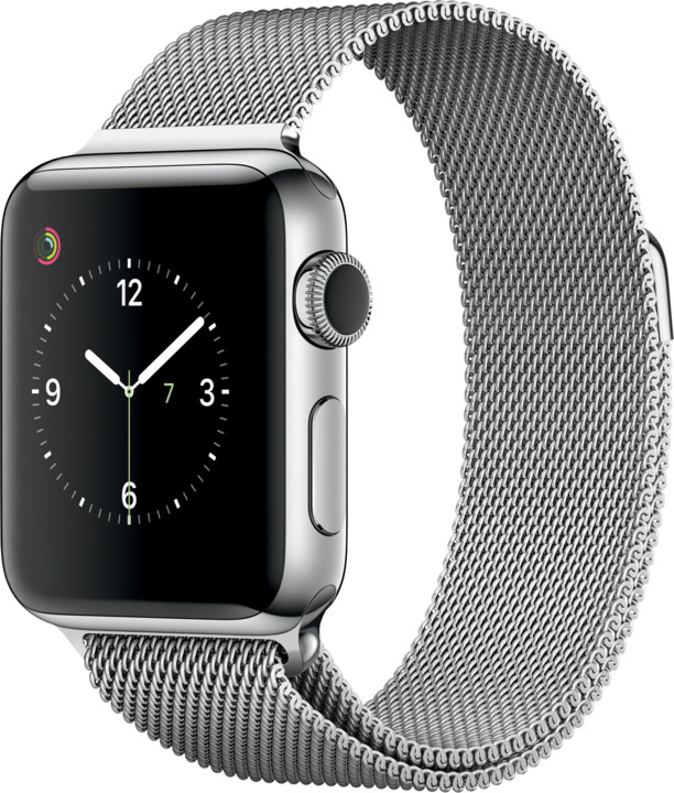Apple Watch 2 38mm Stainless Steel Case with Silver Milanese Loop