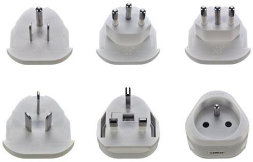 Solight Skross cestovní adaptér, uzemněný, výměnné vidlice pro celý svět