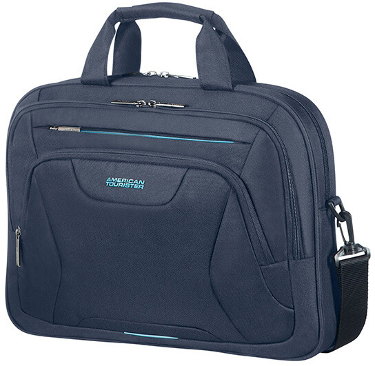 """American Tourister AT WORK LAPTOP BAG 15.6"""" Midnight Navy"""