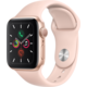 Apple Watch Series 5 GPS, 40mm Gold Aluminium Case with Pink Sand Sport Band  + Kuki TV na 2 měsíce zdarma