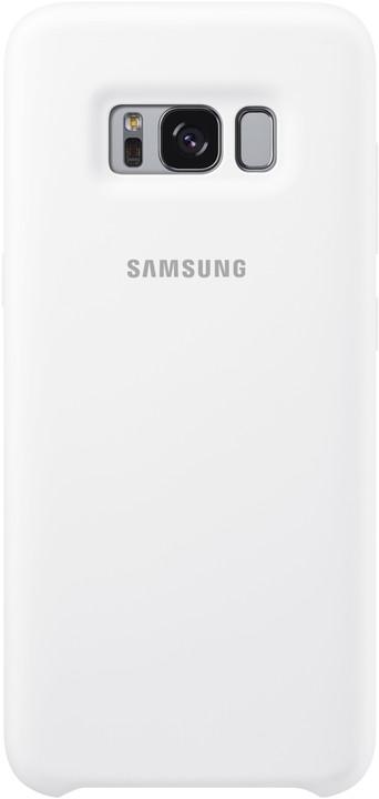 Samsung S8 silikonový zadní kryt, bílá