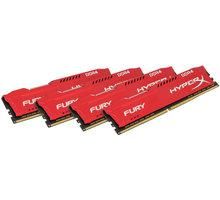 HyperX Fury Red 64GB (4x16GB) DDR4 2933 CL 17 HX429C17FRK4/64