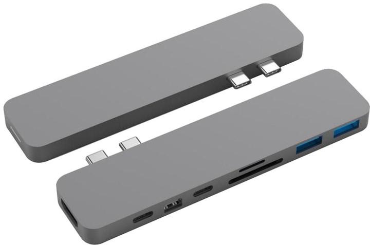 HYPER pro USB-C Hub pro MacBook Pro, šedá