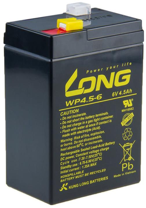 Avacom baterie Long 6V/4,5Ah, olověný akumulátor F1